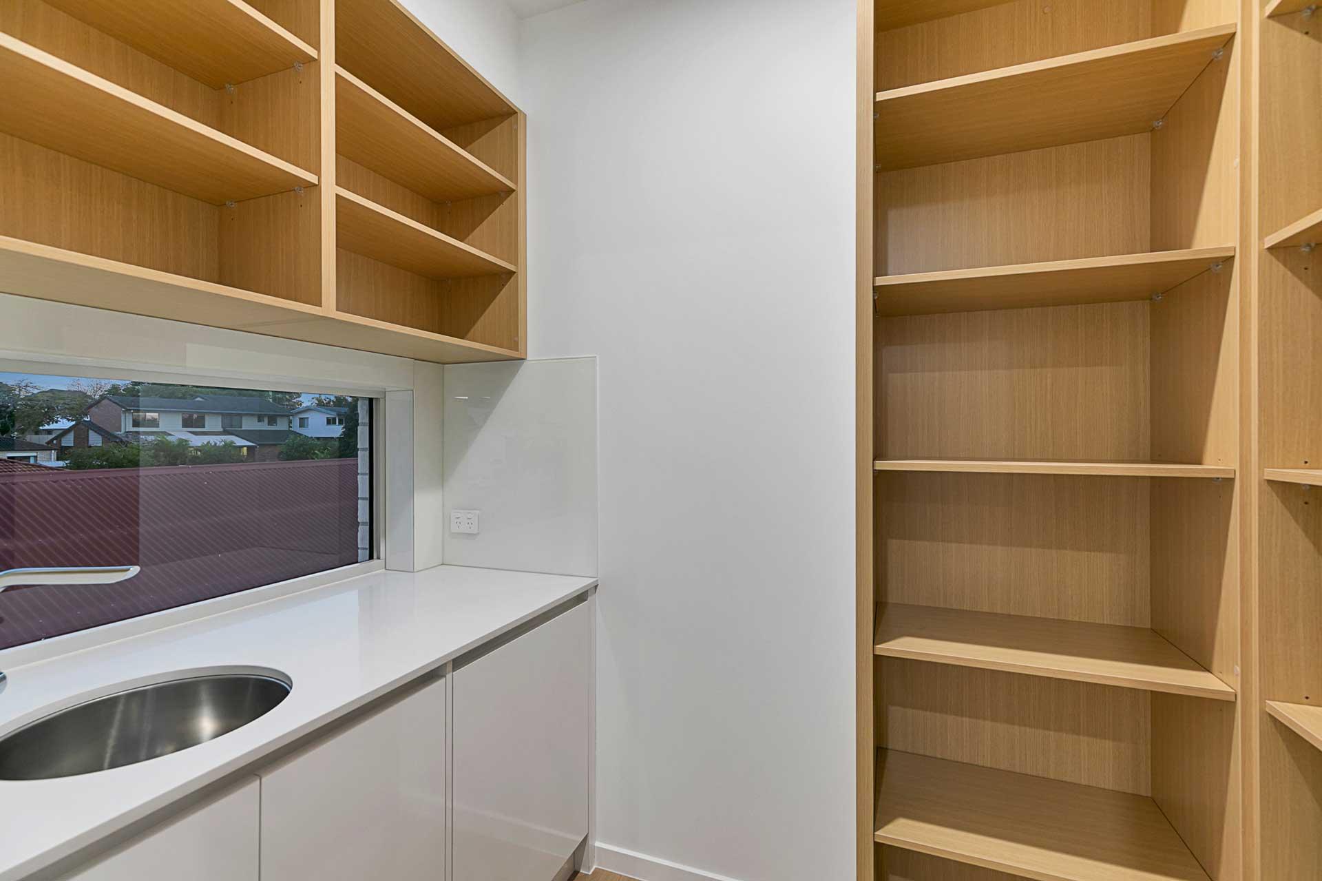 view of bermuda custom designed butlers pantry