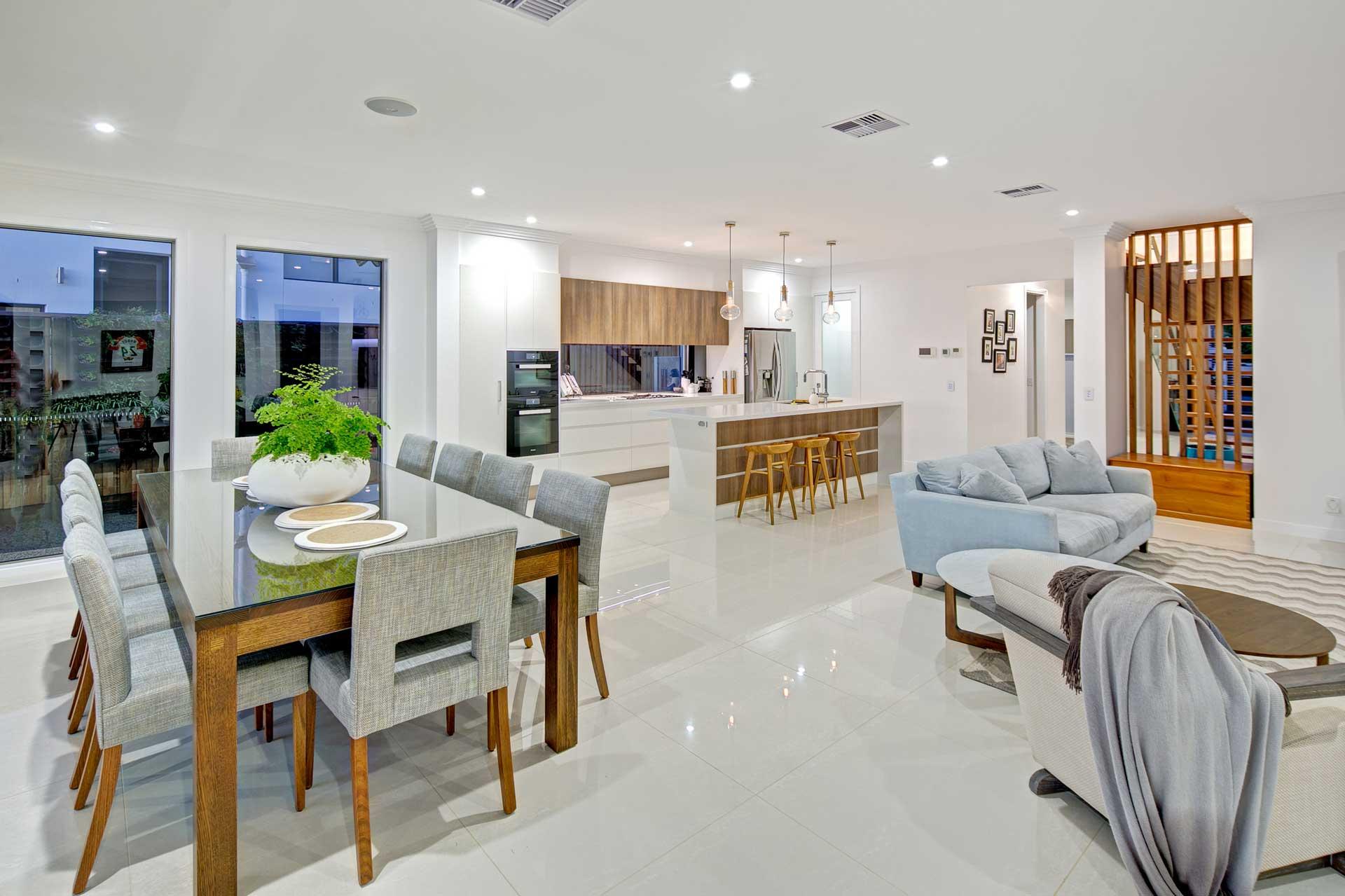view of drake custom designed living area