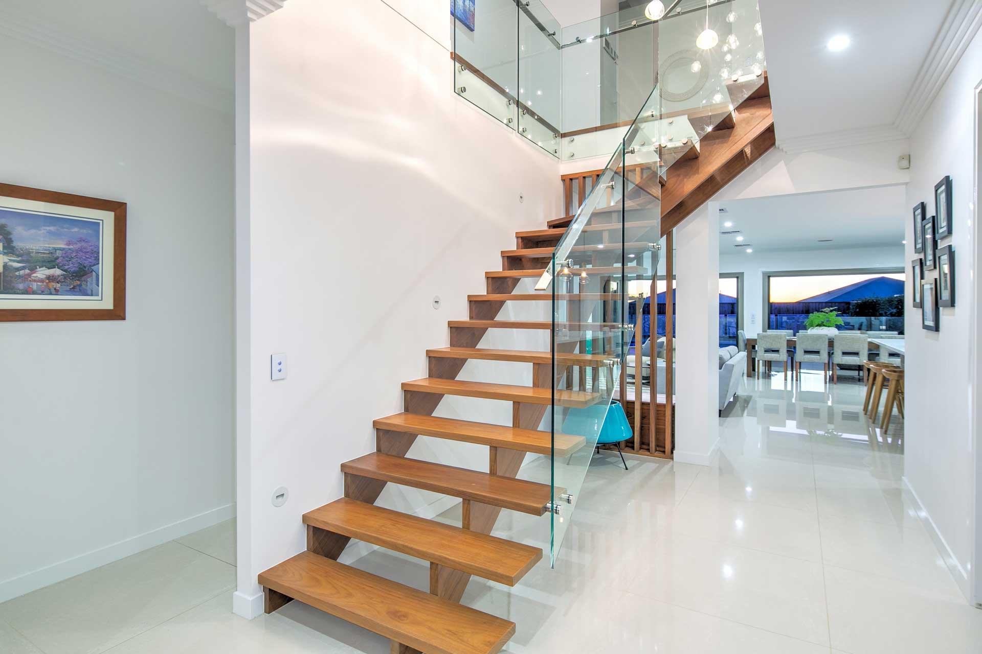 view of drake custom designed stairs