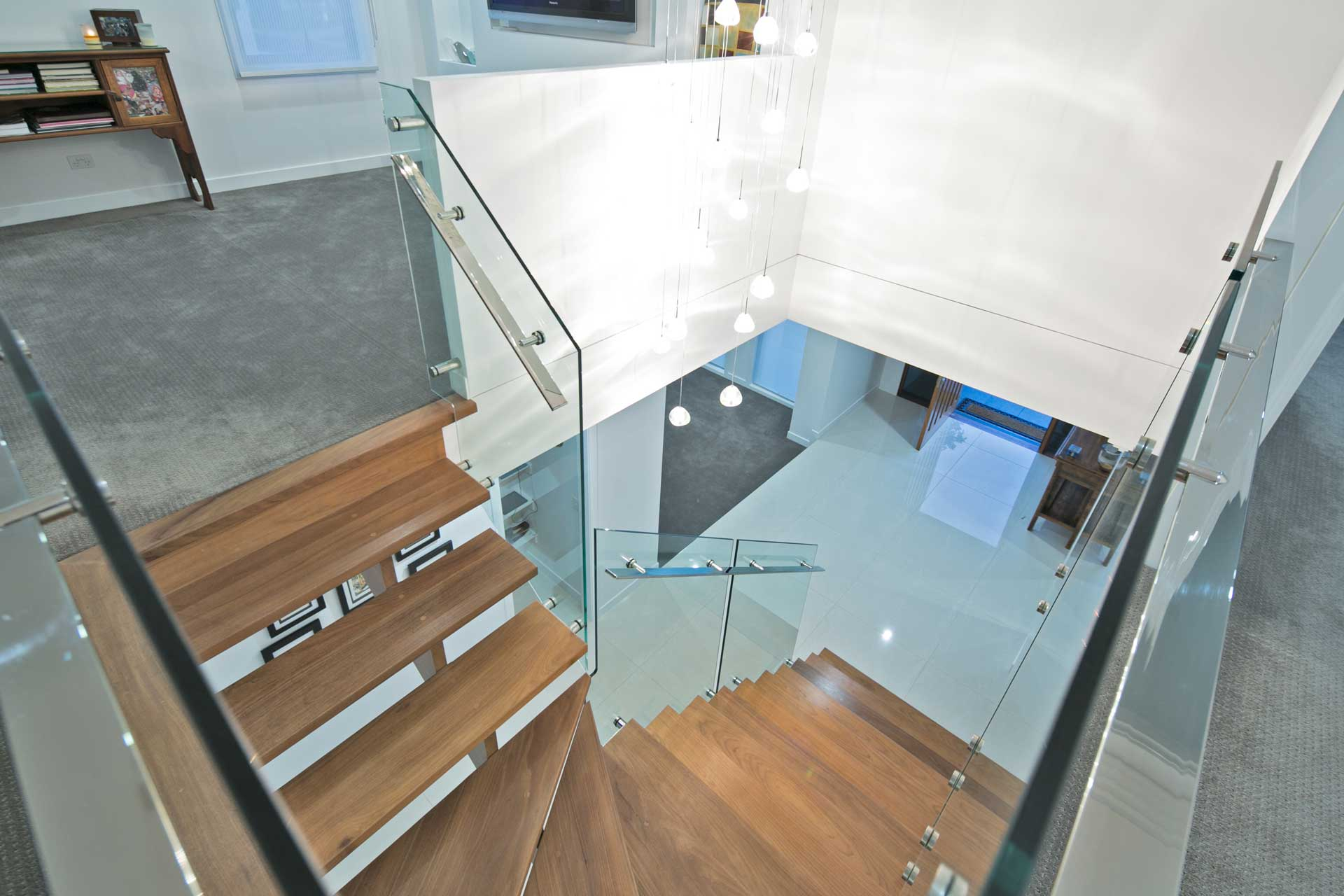 view of drake custom designed stairwell