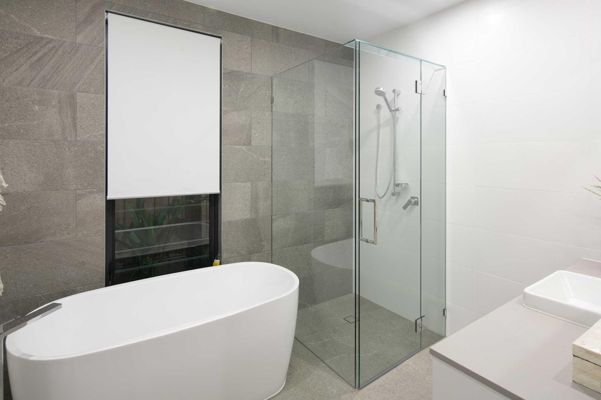 View of modern design seanna bathroom
