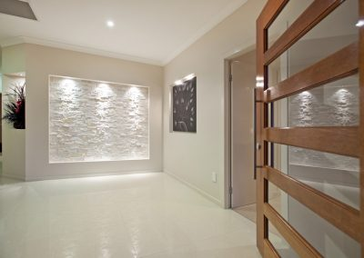 Custom stone feature wall