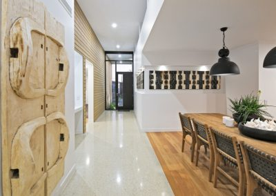 Fusing floor features polished concrete & timber flooring